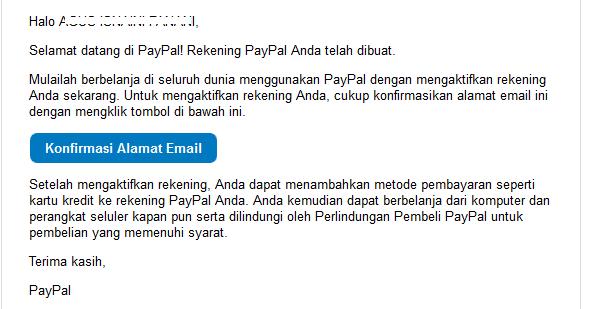 klik konfirm email di web