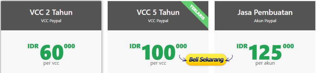 jual jasa verifikasi vcc murah paypal visa mastercard