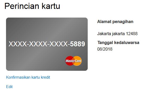 konfirmasikan kartu kredit 1