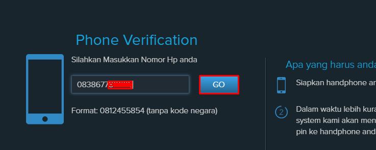 verifikasi no telp
