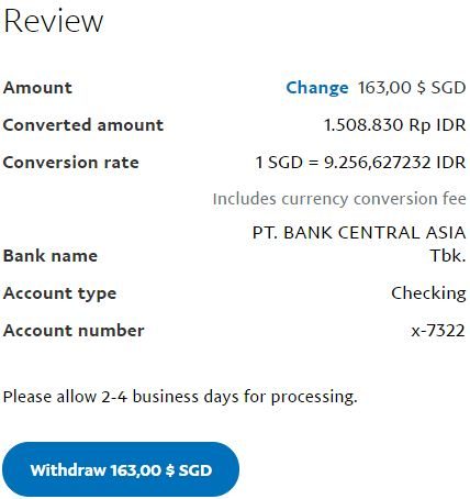 review withdraw paypal