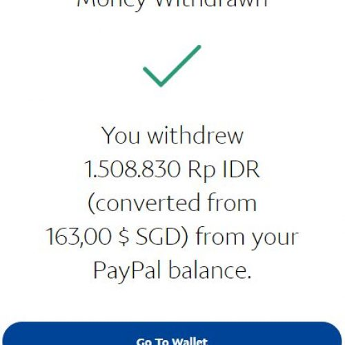 Cara withdraw Paypal ke Bank Lokal
