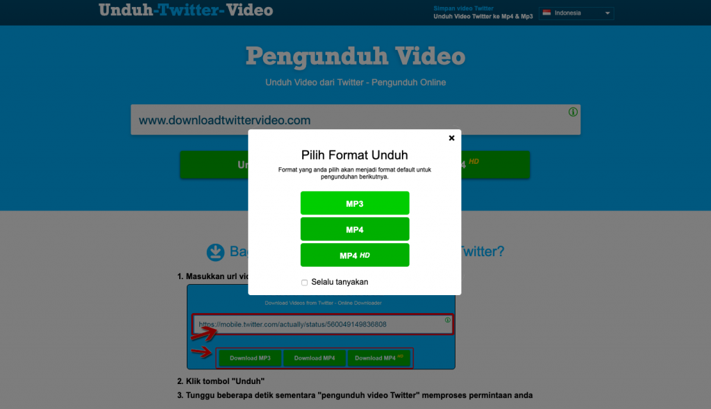 cara download video di twitter Downloadtwittervideo