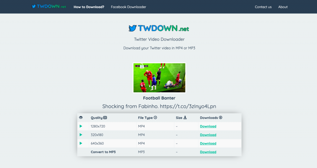 cara download video di twitter twdown 1
